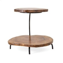 Preston Two Tier Teak Wood Tray