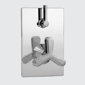 E-Mini Thermostatic - Integrated Rectangle Plate - Trim only with Moderne-X handle