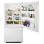 Amana 33-inch Wide Bottom-Freezer Refrigerator with EasyFreezer Pull-Out Drawer - 22 cu. ft. Capacity - White