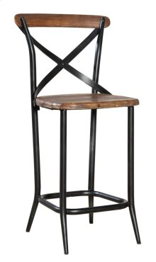 Metal Cross Counter Stool