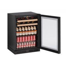 "24"" Beverage Center Integrated Frame Field Reversible"
