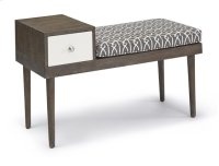 Table/ Bench - Salted Caramel/ Gray Fabric Finish Product Image