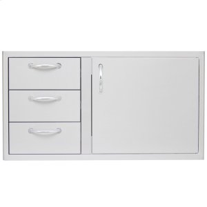 Blaze GrillsBlaze 39 Inch Access Door and Triple Drawer Combo