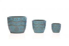 Riverbend Cachepot - Set of 3