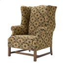 High Back Chair with Oak Chippendale Base Product Image