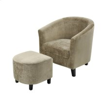 Elana Mink Velvet Chair With Black Legs