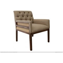 Tufted Arm Chair, w/ deconstructed Backrest