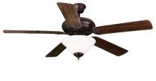 52' 5-Blade RB Fan W/White Bowl Light Kit(2x9.5W LED 3000K)