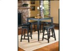 5-Piece Pack Counter Height Set, Black Sand - Through Product Image