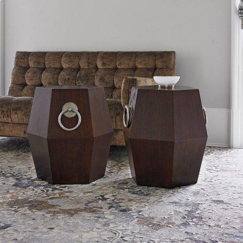 Hexagonal Accent Table - Dark
