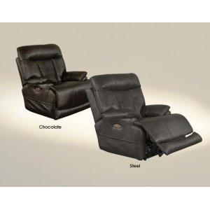 Power Headrest Power Lay Flat Recliner w/Extended Ottoman