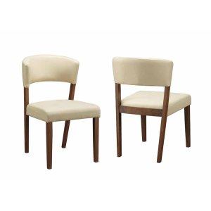 CoasterPaxton Mid-century Modern Cream Leatherette Dining Chair