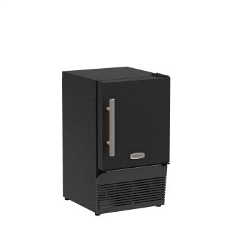 14-In Compact Crescent Ice Maker with Door Style - Black