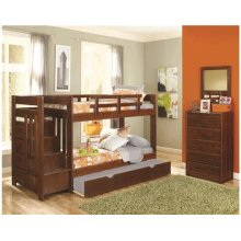 Heartland Reversible Staircase Twin over Twin with options: Chocolate, Twin over Twin, Twin Trundle