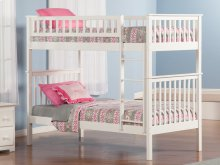 Woodland Bunk Bed Twin over Twin in White