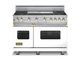 "48"" Custom Sealed Burner Self-Cleaning Range, Propane Gas, Brass Accent"