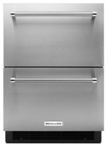"""24"""" Stainless Steel Double Refrigerator Drawer"""
