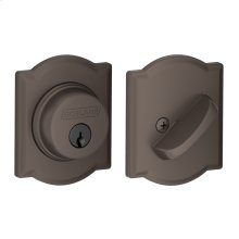 Single Cylinder Deadbolt with Camelot trim - Oil Rubbed Bronze