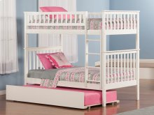 Woodland Bunk Bed Twin over Twin with Urban Trundle Bed in White