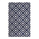 Alika Abstract Diamond Trellis 5x8 Area Rug in Ivory and Navy Product Image