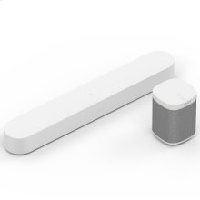 White- Enjoy immersive sound and voice control for music and more, and listen in an additional room.