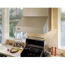 "60"" Wide 18"" High Outdoor Hood - VWH (for use with 53"" wide gas grills)"