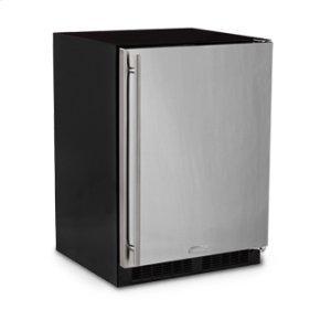 "Marvel 24"" All Refrigerator with Drawer - Black Door - Right Hinge"