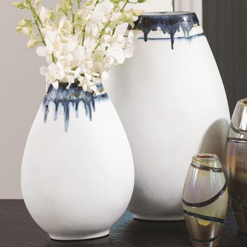 Glass Drip Vase-Sm