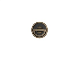 Round Revolving With Leather Recess Leather In Black Tea And Fine Antique Brass