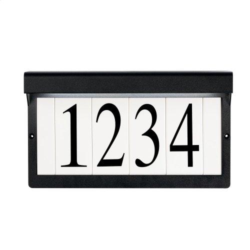 LED Address Light Textured Black
