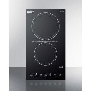 Summit230v 2-burner Cooktop In Black Ceramic Schott Glass With Digital Touch Controls, 3000w