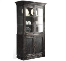 Bellagio China Cabinet Weathered Worn Black finish