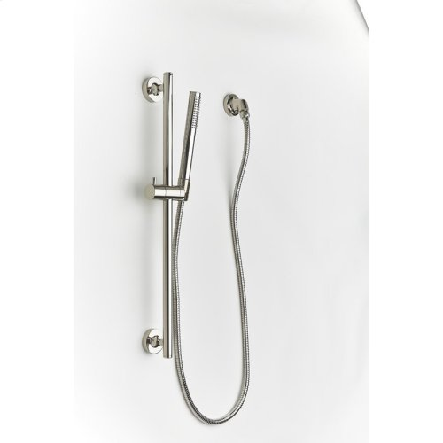 Slide Bar With Hand Shower Taos Series 17 Polished Nickel