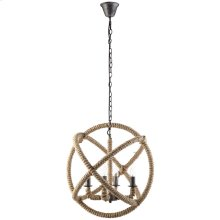 Intention Rope and Steel Chandelier in Brown