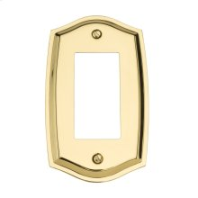 Polished Brass Colonial Single GFCI