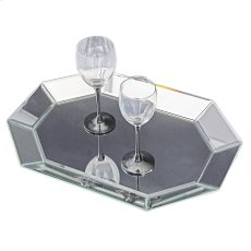 Octagonal Decorative Mirrored Tray Product Image