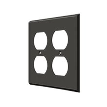 Switch Plate, Quadruple Outlet - Oil-rubbed Bronze
