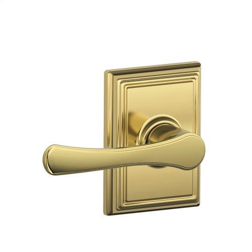 Avila Lever with Addison trim Hall & Closet Lock - Bright Brass