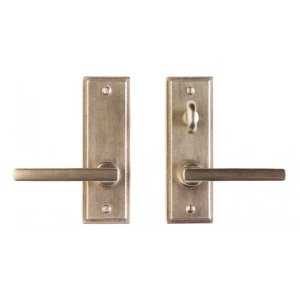 """Stepped Screen Door Hardware - 2"""" x 6"""" Silicon Bronze Brushed"""