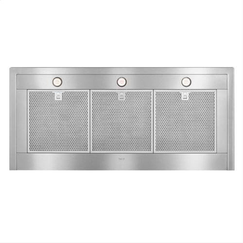 "48"" Brushed Stainless Steel Wall Mount Chimney Hood with Internal 1200 CFM Blower"
