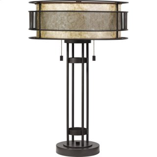 Mica Table Lamp in Western Bronze