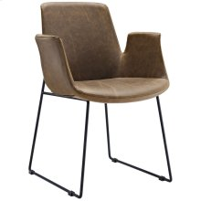 Aloft Dining Armchair in Brown