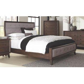 Bingham Retro-modern Brown Upholstered California King Bed