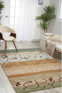 Contour Con10 Gre Rectangle Rug 5' X 7'6''