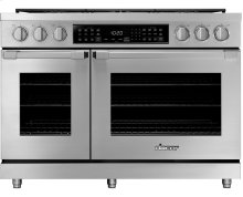"48"" Heritage Dual Fuel Pro Range, Color Match, Liquid Propane"