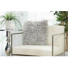 """Shag Dl660 Silver 1'5"""" X 1'5"""" Throw Pillows"""