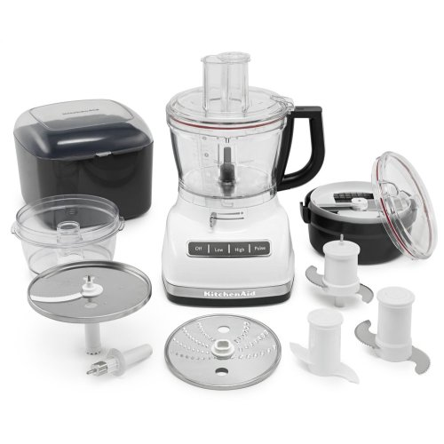 14-Cup Food Processor with Commercial-Style Dicing Kit - White
