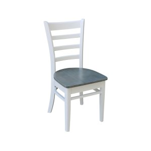 JOHN THOMAS FURNITUREEmily Chair in White & Gray