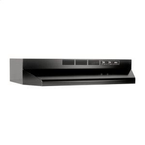 "Broan 36"" Ductless Under-Cabinet Range Hood With Light In Black"