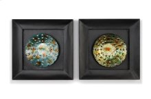 18 x 18 in. Metal with Glass (set of 2)